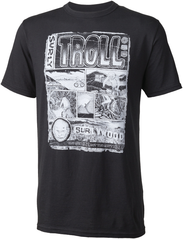 Surly Troll t-shirt - men's - black - front view