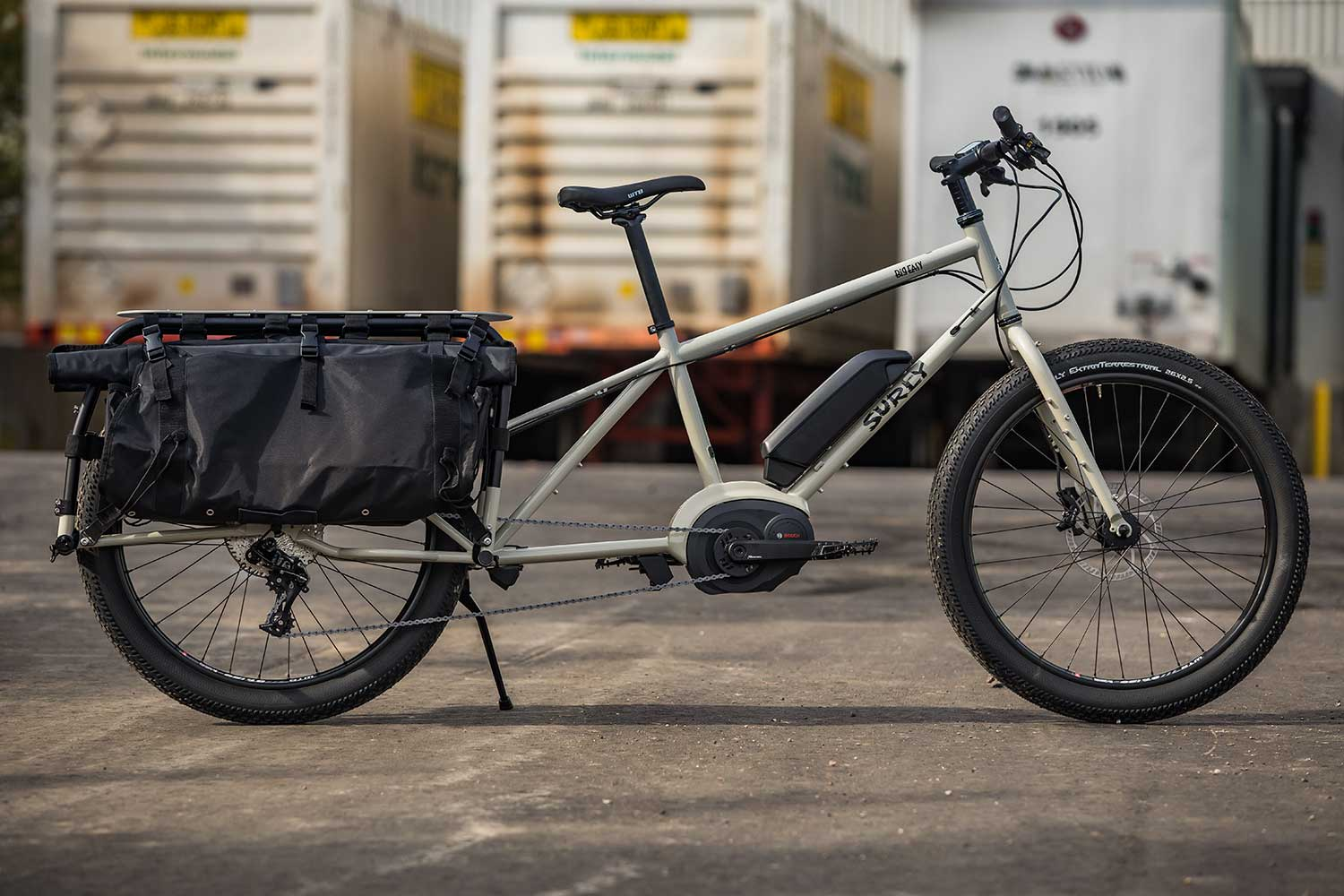Surly Big Easy electric cargo bike, side view