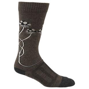 Tall Mushroom Wool Sock