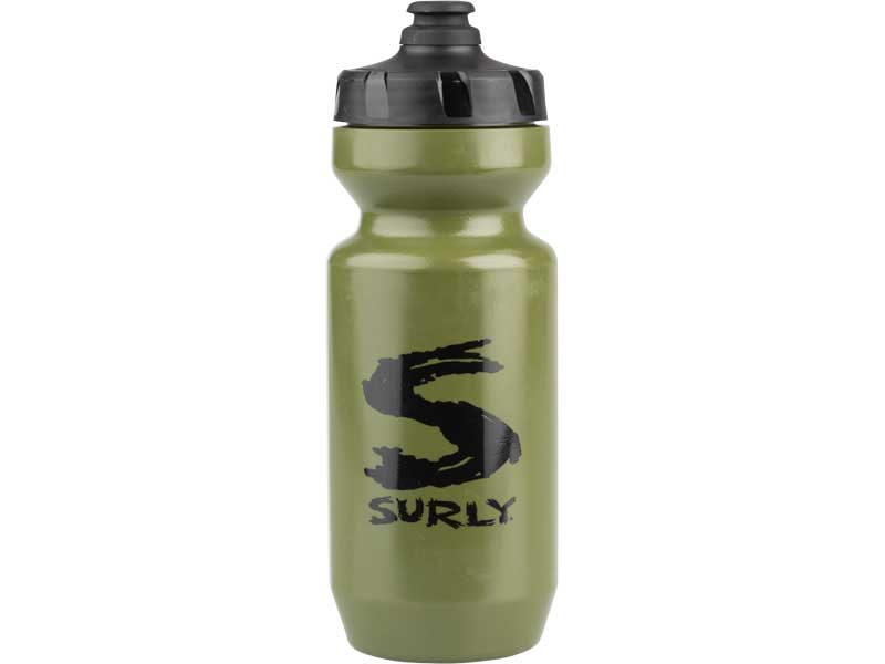 Big S Water Bottle, green, 22oz