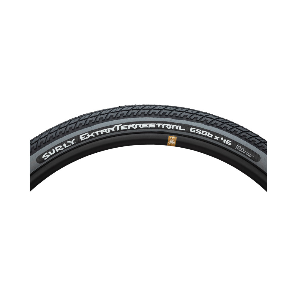 Surly ExtraTerrestrial - 650b x 46 - 60 tpi tire - sidewall view