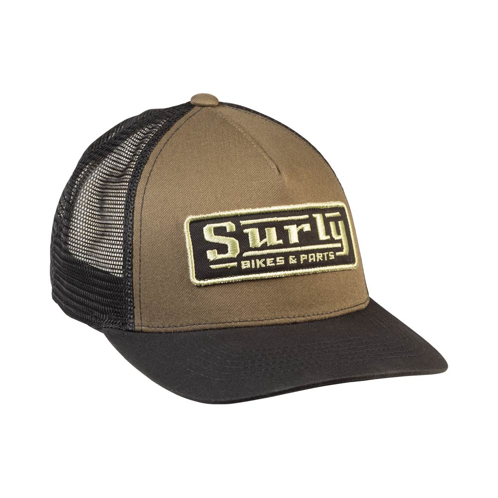 Assistant Executive Director Trucker Hat, front, green and black