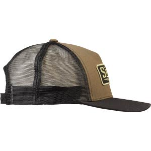 Assistant Executive Director Trucker Hat, side view, green and black