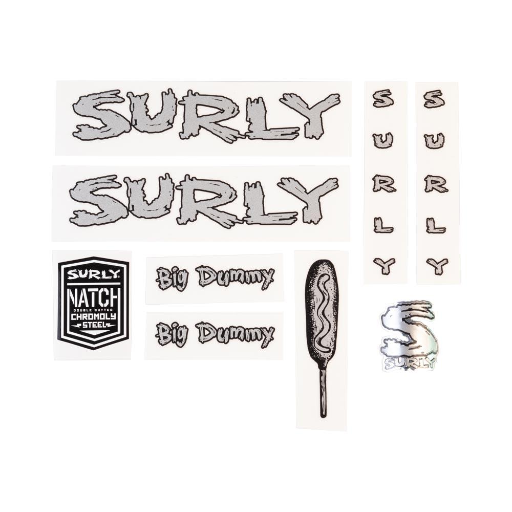 Surly Big Dummy Frame Decal Set - Metallic Silver