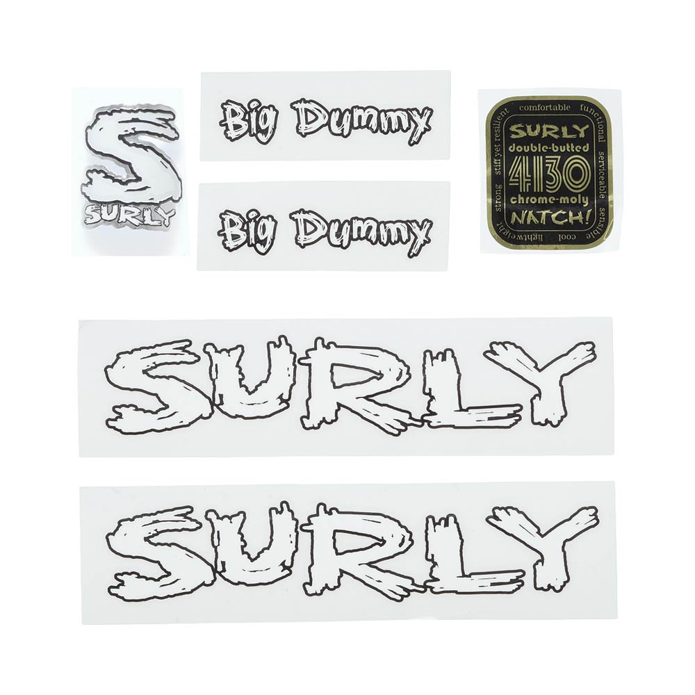 Surly Big Dummy Decal Set, White