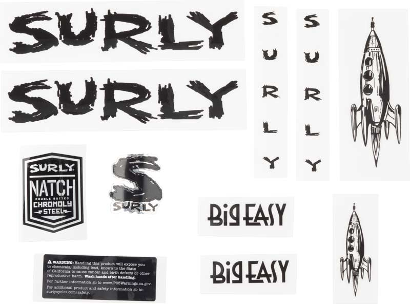 Big Easy Decal Set, black