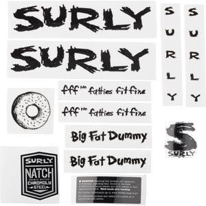 Big Fat Dummy Decal Set, black