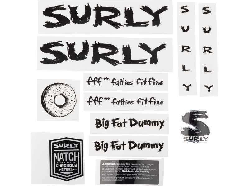 Big Fat Dummy Decal Set, black