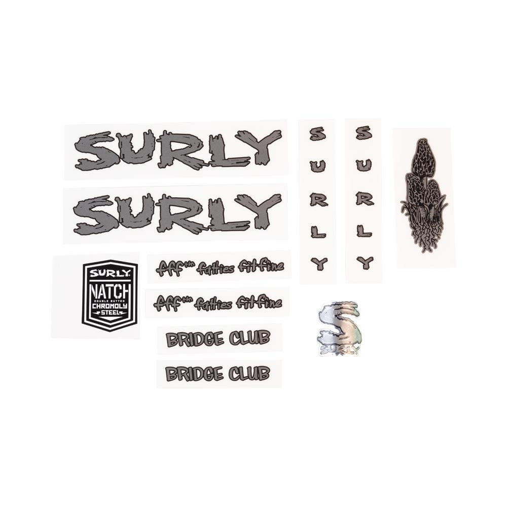 Surly Bridge Club Frame Decal Set - Dark Metallic Gray