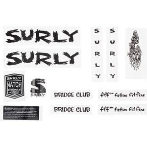Bridge Club Decal Set, black