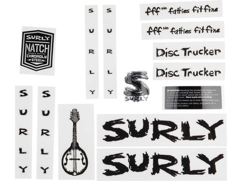 Disc Trucker Decal Set, black