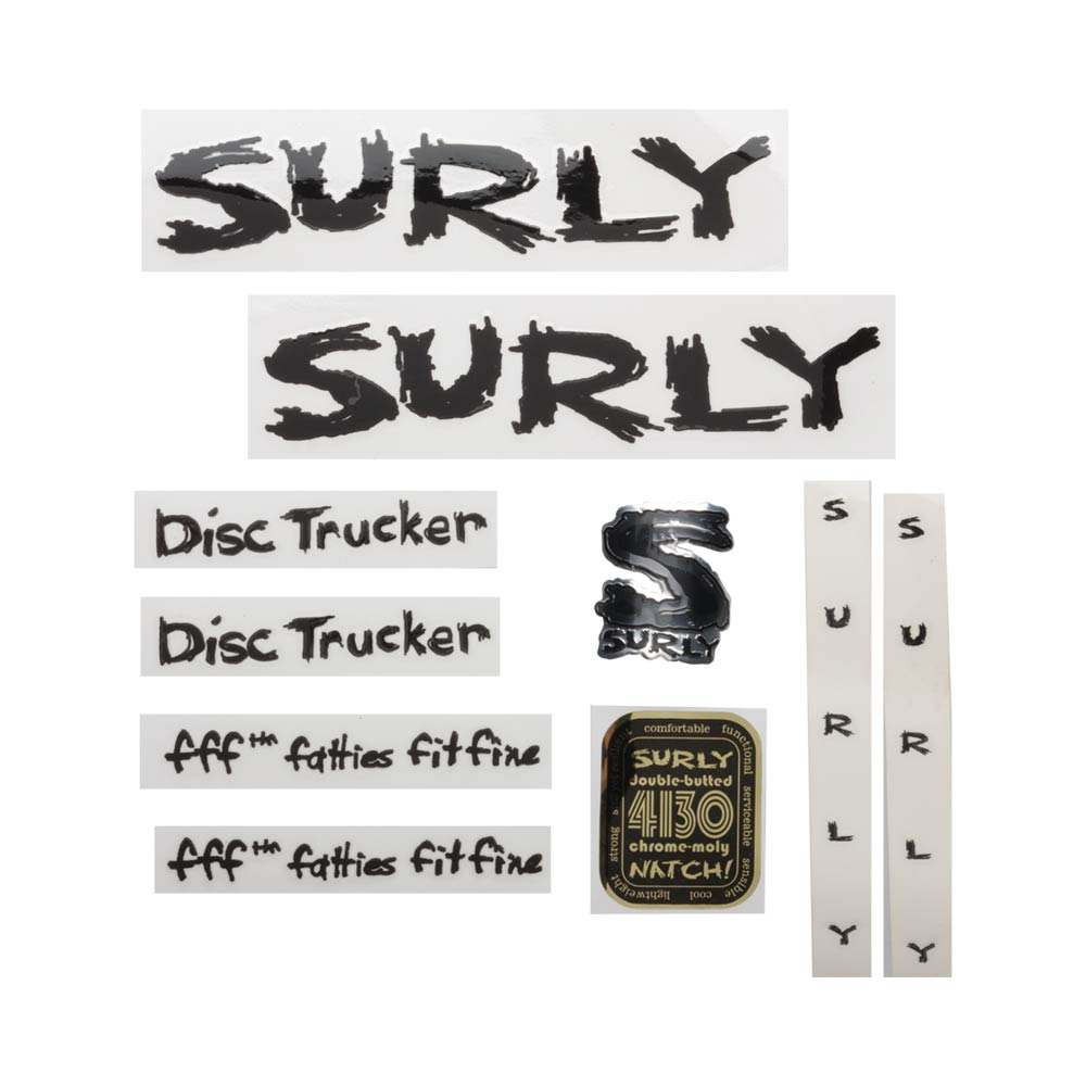 Surly Disc Trucker Decal Set, Black