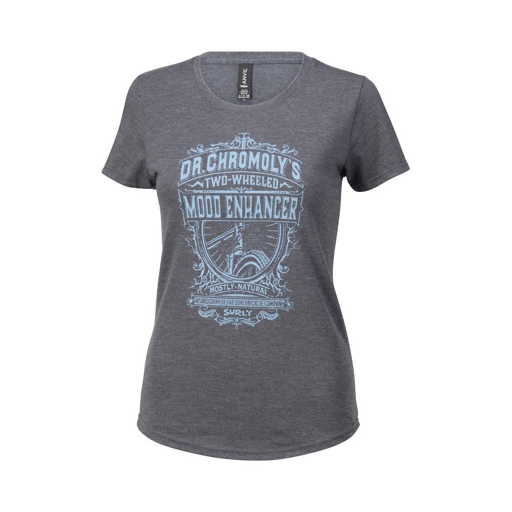 Surly Dr. Chromoly's Elixir Women's T-Shirt, Heather Dark Grey