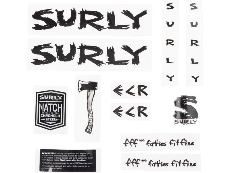 ECR Decal Set, black