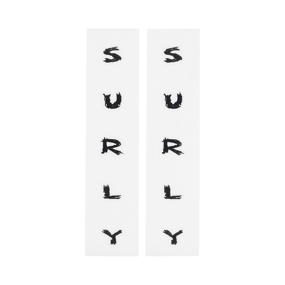 Surly Fork Decals, Black