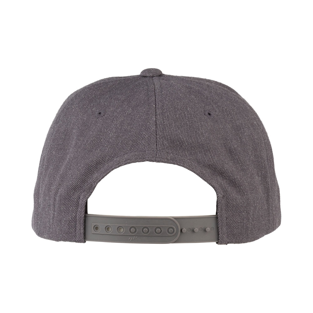 Surly Gray Area Snap Back Hat - Dark Heather Gray, One Size - back view