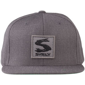Surly Gray Area Snap Back Hat - Dark Heather Gray, One Size - front view