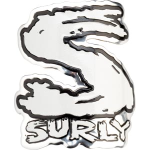 Surly Headbadge, White
