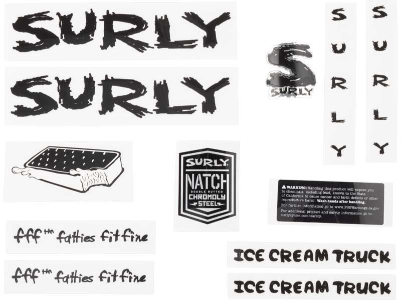 Ice Cream Truck Decal Set, black