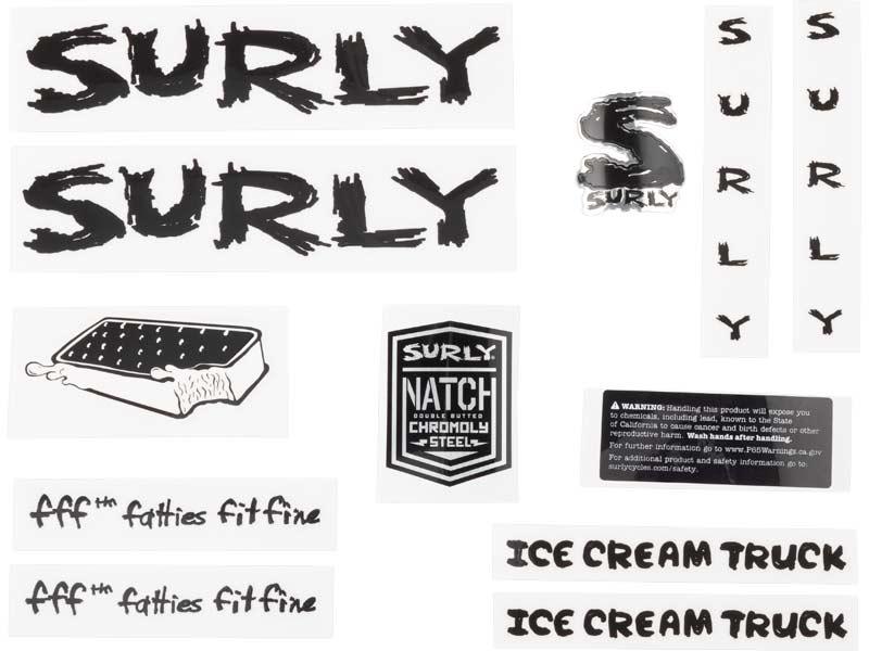 Ice Cream Truck Decal Set, black