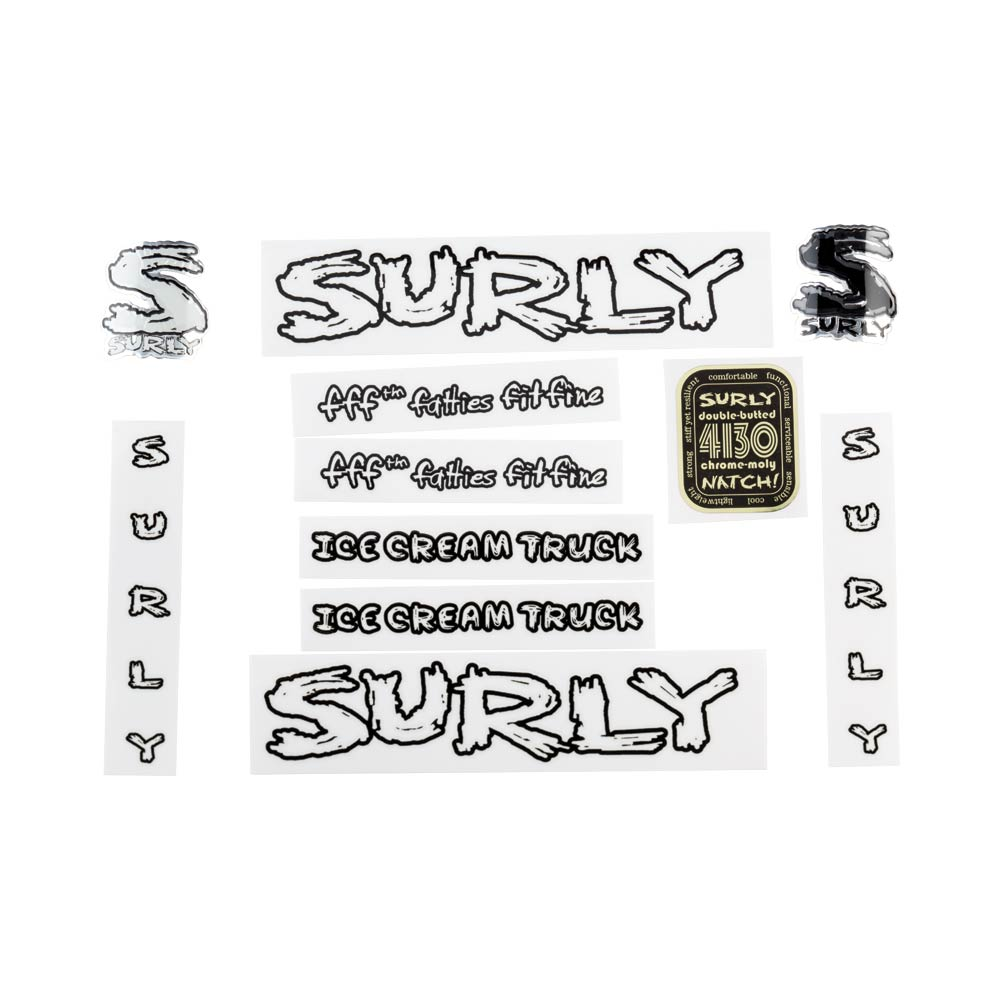 Surly Ice Cream Truck Decal Set, Transparent