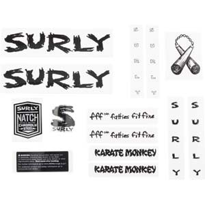 Karate Monkey Decal Set, black