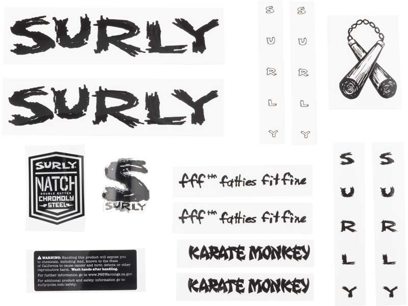 Karate Monkey Decal Set, black
