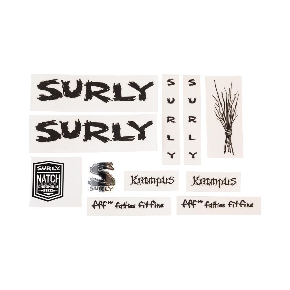 Surly Krampus Frame Decal Set - Metallic Black
