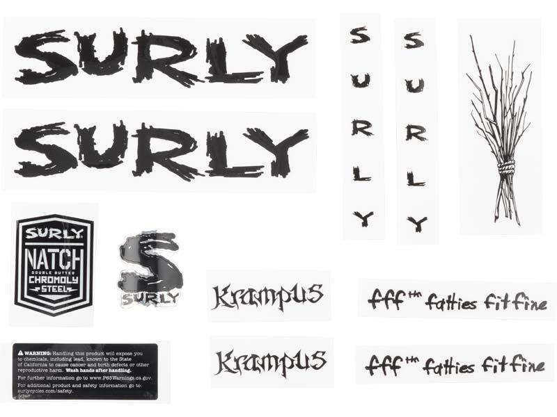 Krampus Decal Set, black