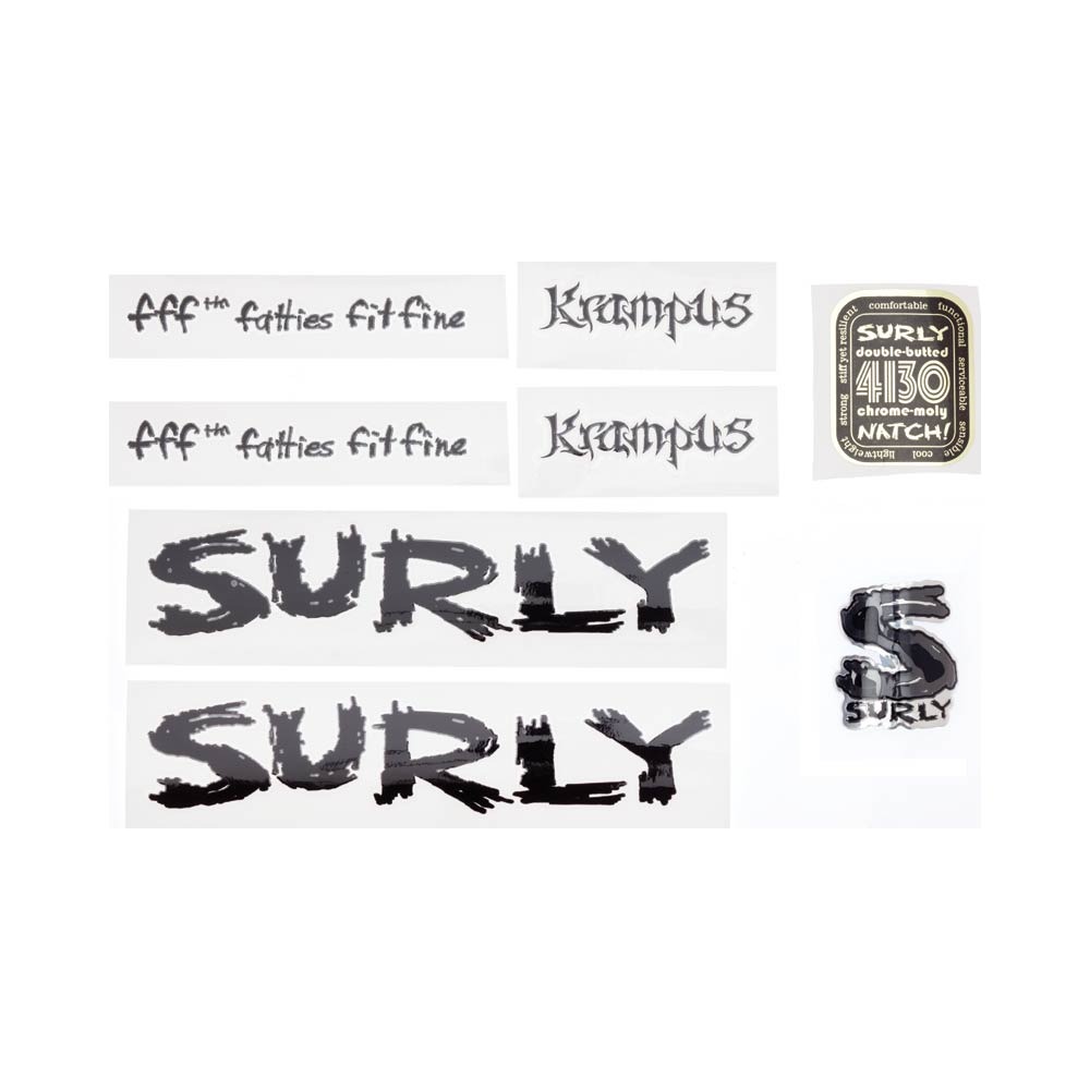 Surly Krampus Decal Set, Black