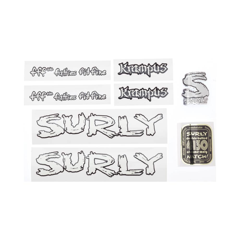 Surly Krampus Decal Set, White