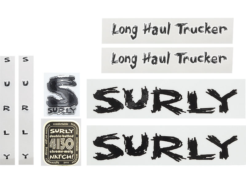 Surly Long Haul Trucker Decal Set, Black