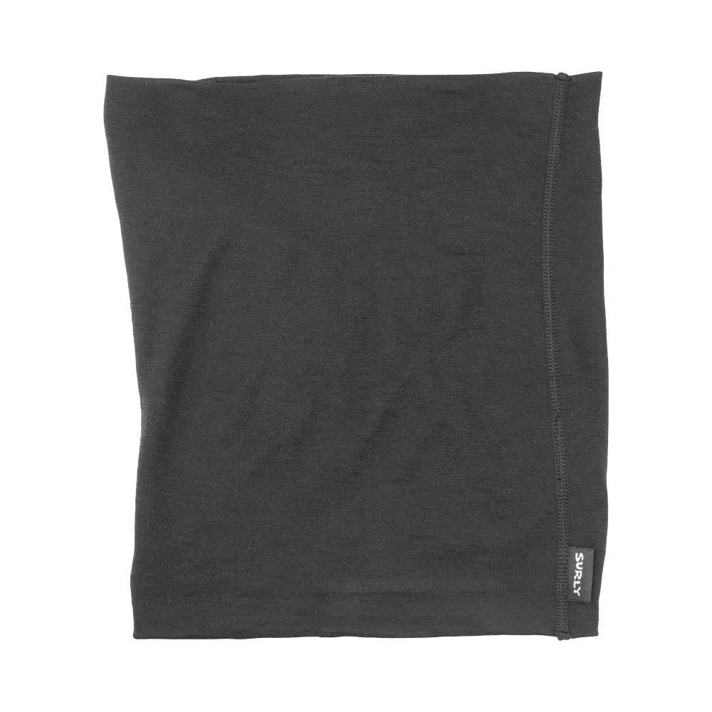 Surly Lightweight Wool Neck Toob, Black, laying flat
