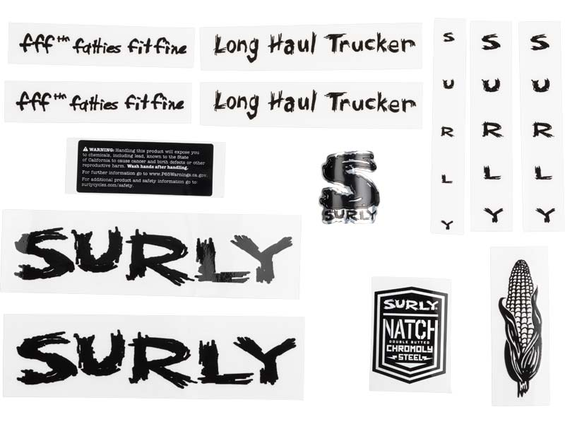 Long Haul Trucker Decal Set, black