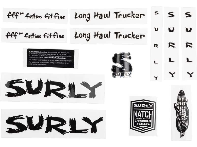 Long Haul Trucker Decal Set, black