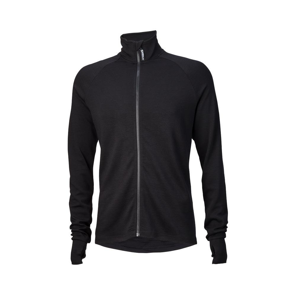 Surly Men's Merino Wool Long Sleeve Jersey, Black
