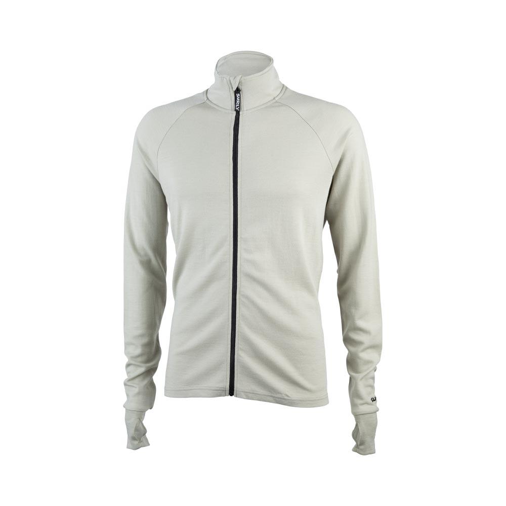 Surly Men's Merino Wool Long Sleeve Jersey, Tan