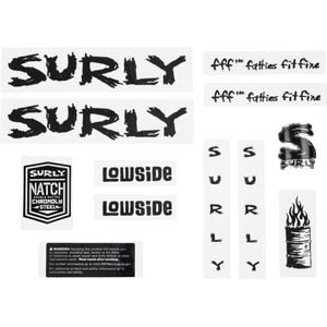Surly Lowside Decal Set, Black