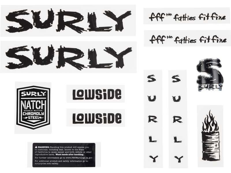 Lowside Decal Set, black