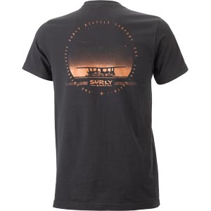 Surly Space Station Men's Tee, Black - backside view