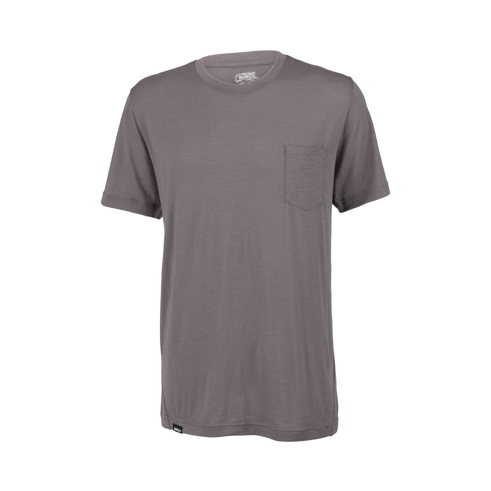 Surly Merino Pocket T-Shirt: Gray