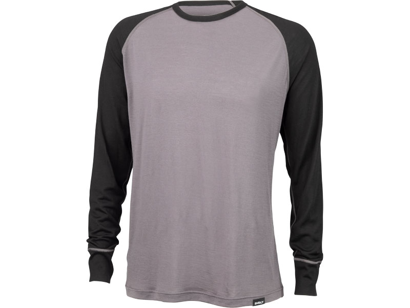 Surly Raglan Shirt: Gray/Black