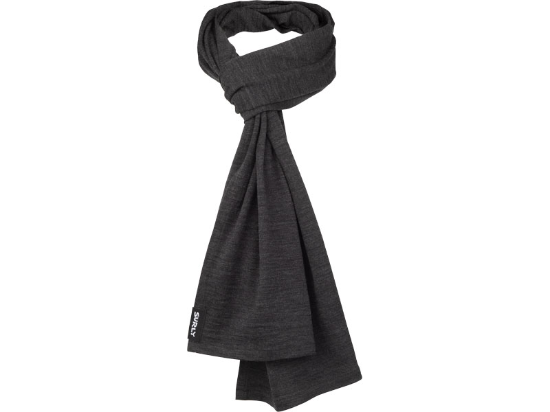 Surly Merino Wool Scarf: Gray Stripe, One Size