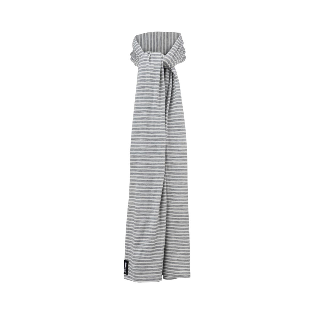 Surly Merino Wool Scarf: Gray/White, One Size