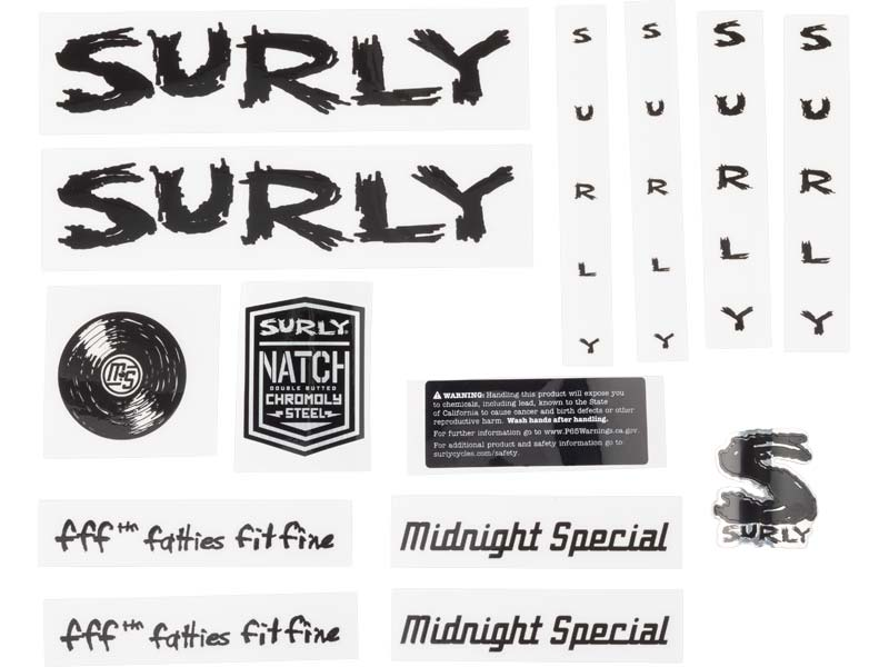 Midnight Special Decal Set, black