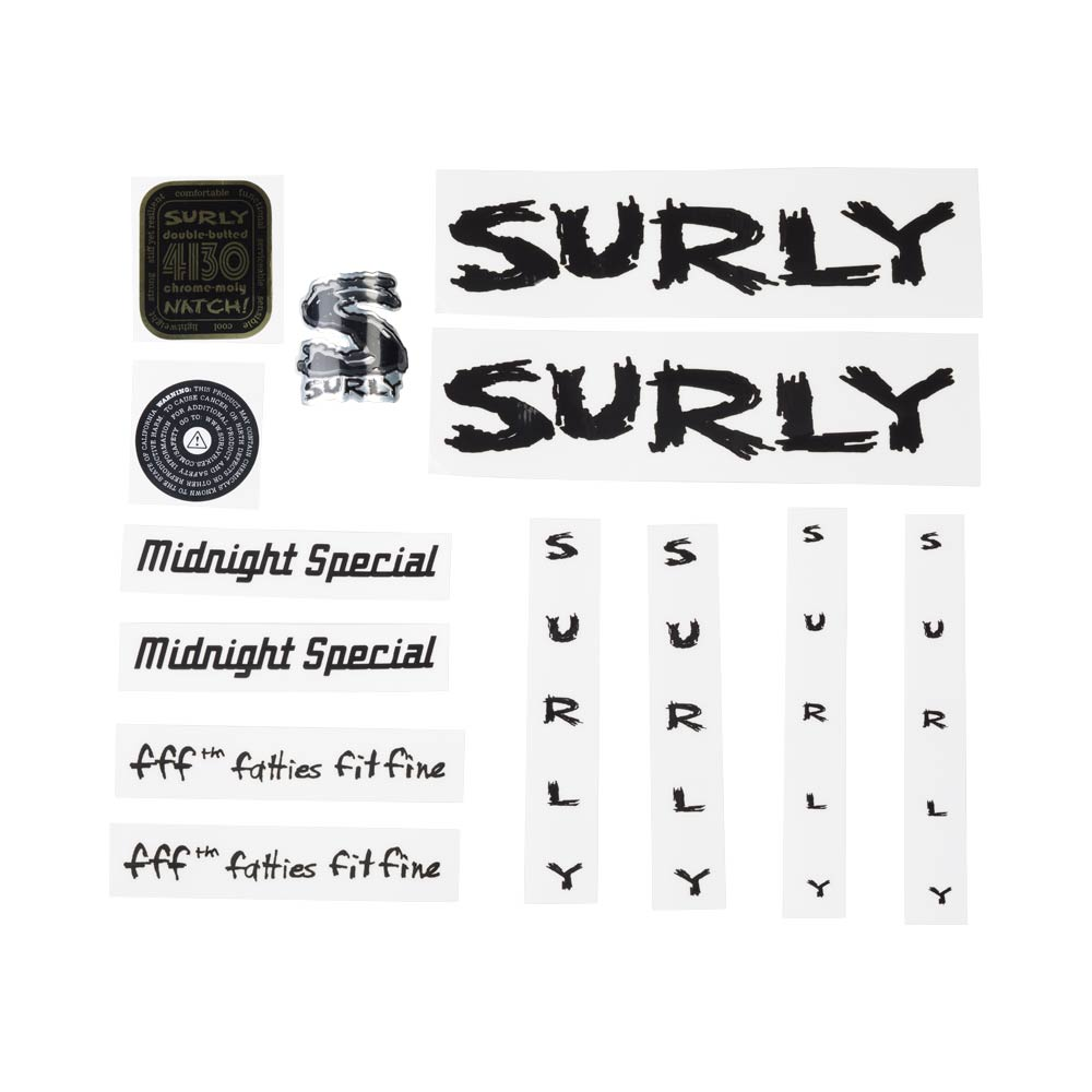 Surly Midnight Special Decal Set, Black