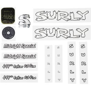 Surly Midnight Special Decal Set, White