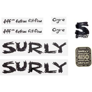 Surly Ogre Decal Set, Black