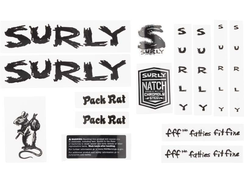 Pack Rat Decal Set, black