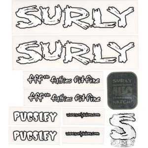 Surly Pugsley Decal Set, White
